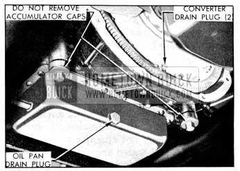 1956 Buick Dynaflow Transmission Drain Plugs