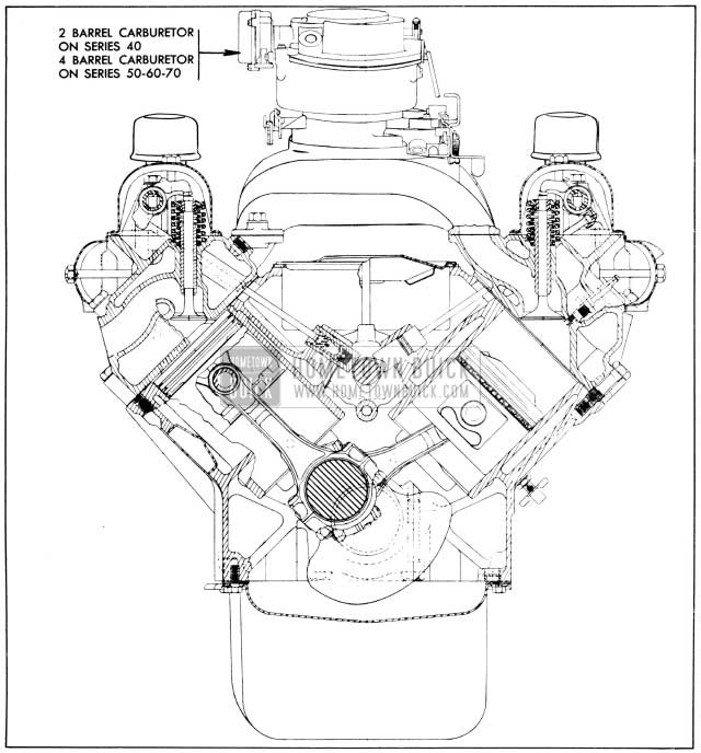 1956 buick engine specifications hometown buick Brake Booster Vacuum Diagram 1956 buick engine end sectional view