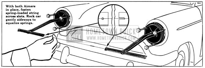 1956 Buick Fastening String Across Aimers