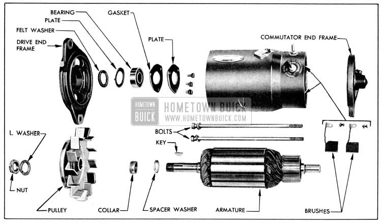1956 Buick Generator Disassembled