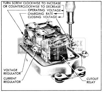 1956 Buick Generator Regulator Spring Tension Adjustments