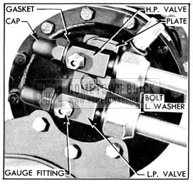1956 Buick High and Low Pressure Service Valves