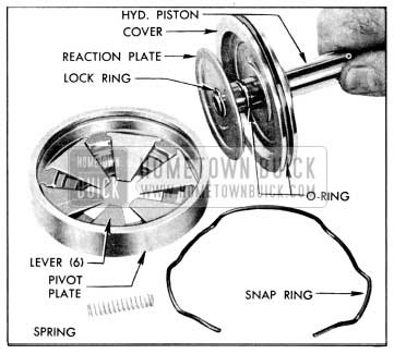 1956 Buick Hydraulic Piston and Attached Parts