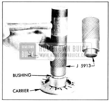 1956 Buick Installing Bushing in Blade Carrier