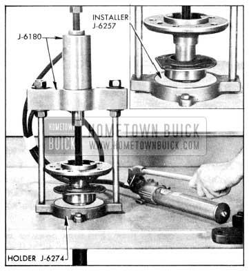 1956 Buick Installing Rear Wheel Bearing or Retaining Ring