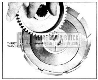 1956 Buick Installing Thrust Washer and Clutch Hub in Reaction Gear