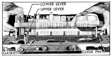 1956 Buick Installing Valve and Servo Body Assembly