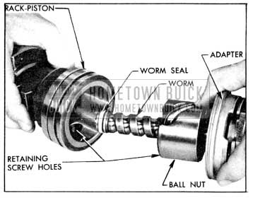 1956 Buick Installing Worm Assembly in Rack-Piston
