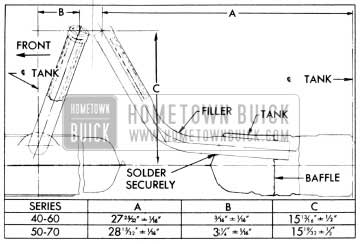 1956 Buick Location Dimensions for Installing Gasoline Tank Filler