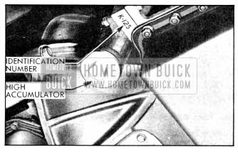 1956 Buick Location of Dynaflow Transmission Identification Number