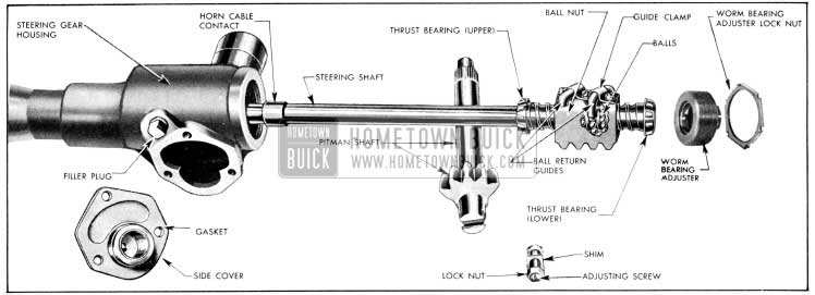 1956 Buick Manual Steering Gear Disassembled
