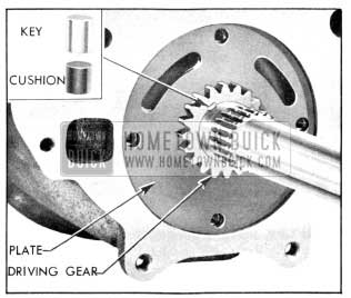 1956 Buick Oil Pump Driving Gear and Key Installed