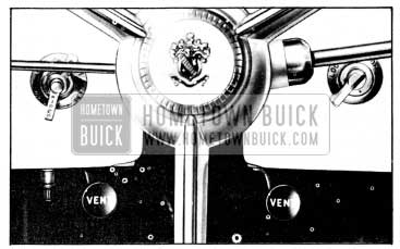 1956 Buick Outside Air Vent Controls