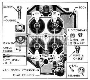 1956 Buick Parts in Main Carburetor Body