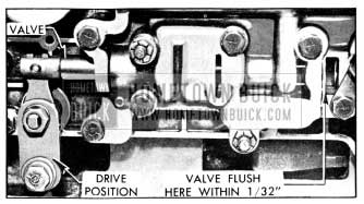 1956 Buick Position of Control Valve in Direct Drive Range