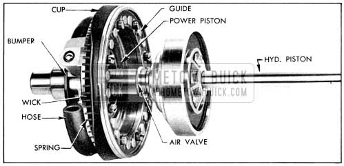 1956 Buick Power Piston With Air Valve and Hydraulic Piston Assembly