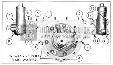1956 Buick Reaction Shaft Flange and Accumulator Bolt Tightening Sequence