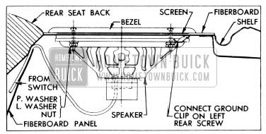 1956 Buick Rear Seat Speaker Installation