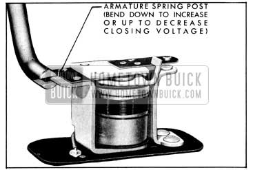 1956 Buick Relay Closing Voltage Adjustment