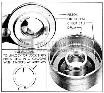1956 Buick Removal of Clutch Piston and Oil Sealing Ring