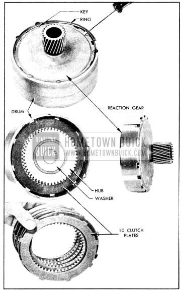 1956 Buick Removal of Reaction Gear, Hub, and Plates
