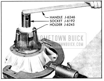 1956 Buick Removing Pinion Nut