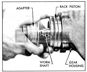 1956 Buick Removing Rack-Piston and Worm Assembly
