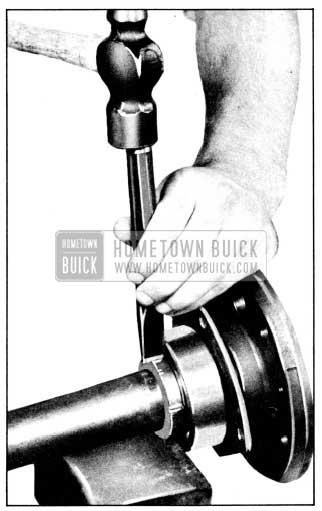 1956 Buick Removing Rear Wheel Bearing Retaining Ring
