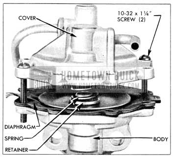 1956 Buick Removing Vacuum Cover