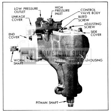 1956 Buick Right Side of Power Steering Gear Assembly