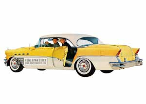1956 Buick Roadmaster Riviera Sedan - Model 72R HB