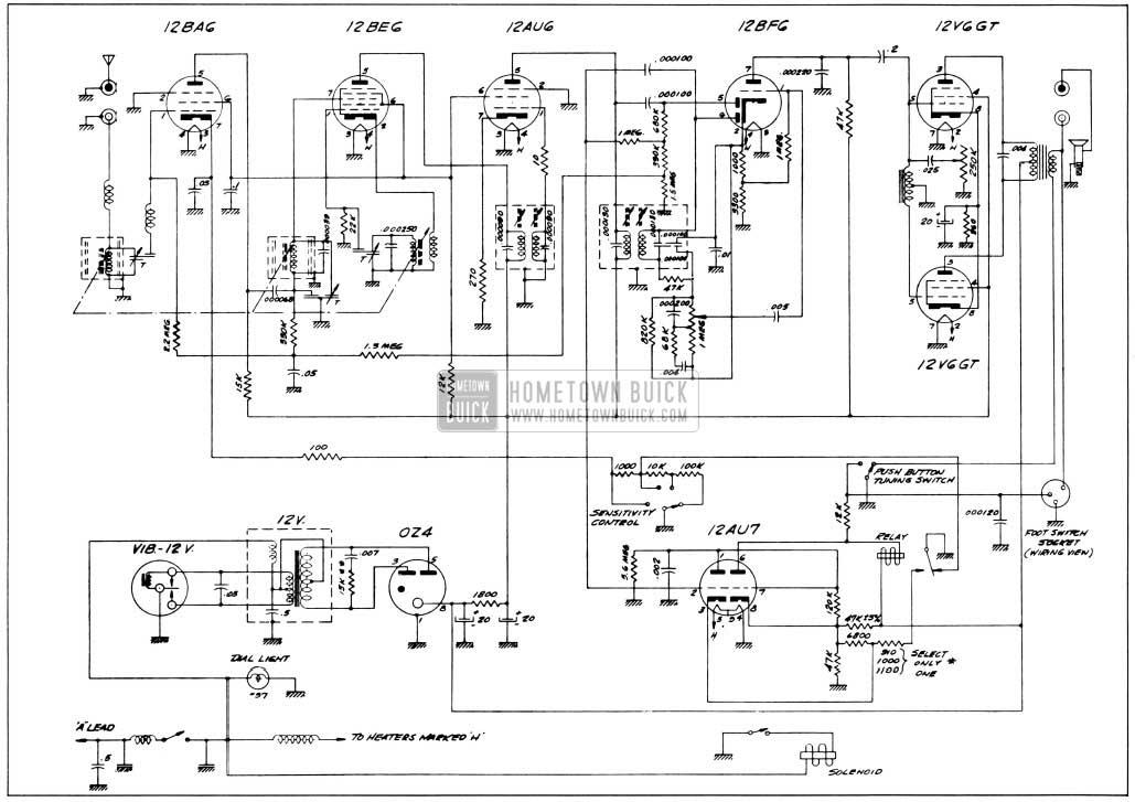 1956 Buick Selectronic Radio Wiring Circuit