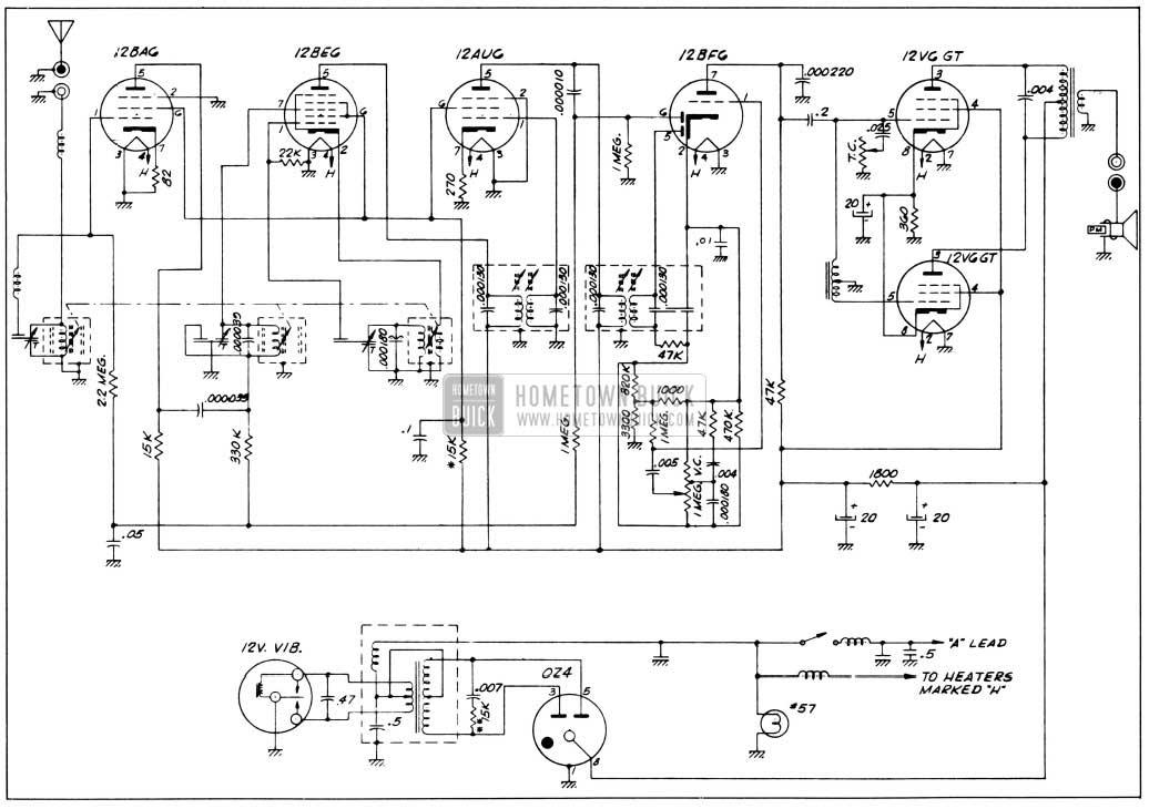 1956 Buick Sonomatic Radio Wiring Circuit