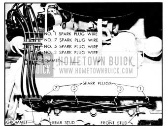 1956 Buick Spark Plug Wires-Right Bank