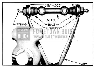 1956 Buick Upper Arm, Shaft, Bushings and Seals