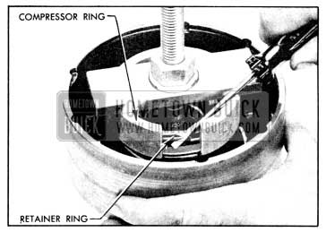 1956 Buick Using Clutch Spring Compressor J 2590