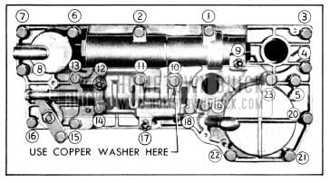 1956 Buick Valve and Servo Body Bolt Tightening Sequence