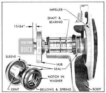1956 Buick Water Pump Parts