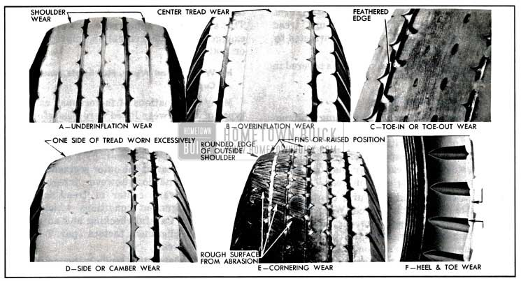 1957 Buick Abnormal Tire Tread Wear Patterns