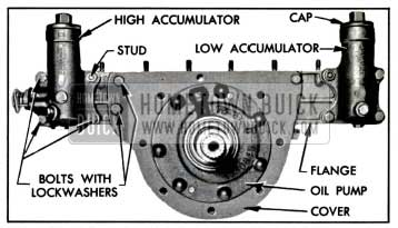 1957 Buick Accumulator Body and Reaction Shaft Flange Attaching Screws