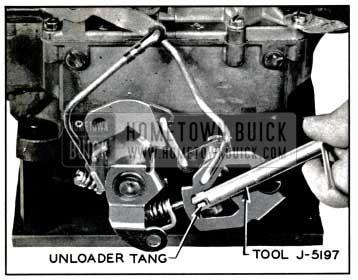 1957 Buick Adjusting Choke Unloader