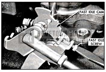 1957 Buick Adjusting Fast Idle Speed on Engine
