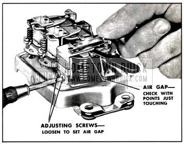1957 Buick Adjustment of Cutout Relay Air Gap
