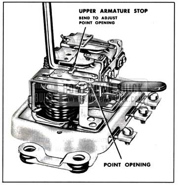 1957 Buick Adjustment of Cutout Relay Contact Point Openings