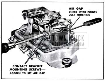 1957 Buick Adjustment of Voltage Regulator Air Gap