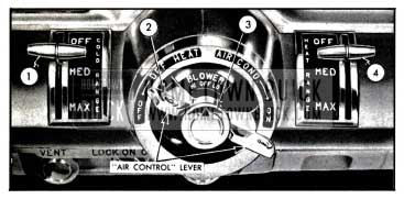 1957 Buick Air Conditioner Controls