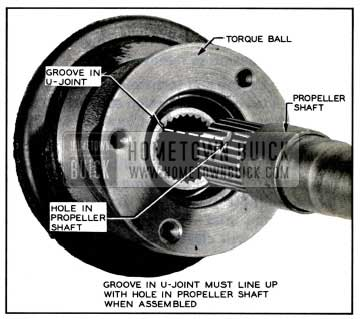 1957 Buick Aligning Propeller Shaft with Front Universal Joint