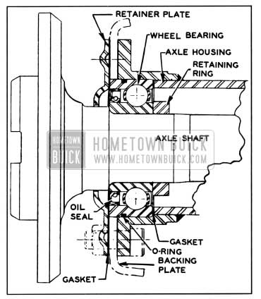 1957 Buick Axle Shaft and Bearing Assembly