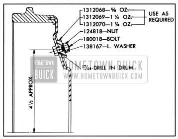 1957 Buick Brake Drum Balance Weights-Service Application