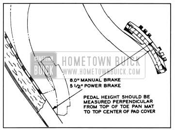 1957 Buick Brake Pedal Height Adjustment